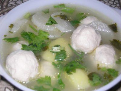 sup bebola ikan dahlia's kitchen