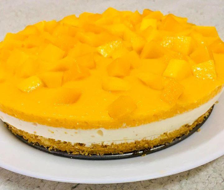 Resepi Mango Cheese Cake, Tak Perlu Guna Oven & Mixer ...